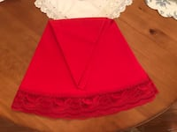 Tablecloth Red with Lace Edging Algood, 38506