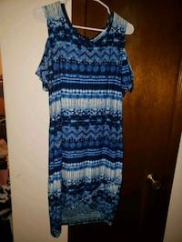 blue and black sleeveless dress Smyrna, 30080