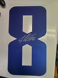 Jake virtanen autographed jersey number