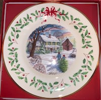 Lenox The Annual holiday collector plate 2000 unused in original box