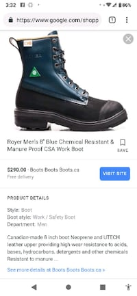 Brand new Royer work Boots CSA approved size 9 London