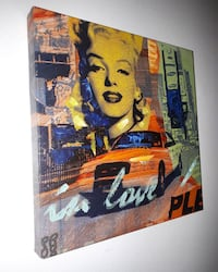 Marilyn Monroe and orange car painting wall decor