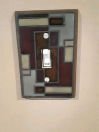 Abstract light switch cover ceramic