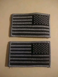 2Grey sew on flags Fort Hood, 76544