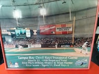 Tampa Bay Devil Ray's Inaugural Game poster Citra, 32113