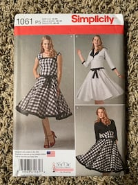 Simplicity 1061 Dress Sewing Pattern Forest Grove, 97116