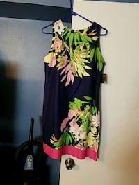 black and green floral sleeveless dress Lafayette, 70503