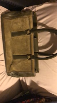 Coach Green Suede and Leather!  248 mi