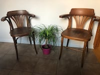 Two antique wood chairs Milton, L9T 0N2