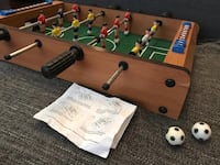 brown and green wooden foosball table Toronto, M6K 3A7