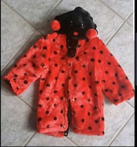 Toddler ladybug costume fits a 2 or 3 year old worn once  Brampton, L6W 1V2