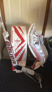 Simmons 993 goalie pads and Bauer One90 stick