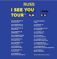 Russ Concert ticket  Winnipeg, R2J 1V7