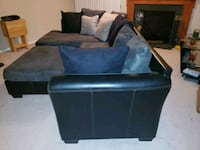 Grey n Black sectional with Ottoman  Reisterstown, 21136