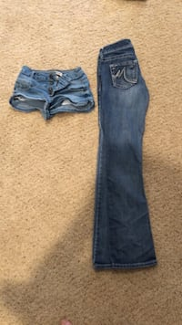 Lady's size 0 , pair shorts & Jeans