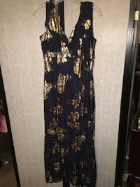 black and brown floral sleeveless dress Los Angeles, 91606