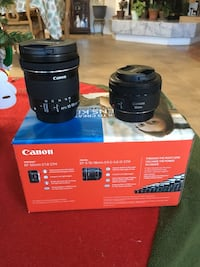 Canon 50mm f/1.8 and Canon 10-18mm f/4.5-5.6 lens kit