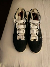 pair of black-and-white sneakers