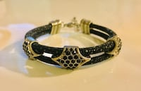 Real stingray leather double cord bracelet Fords, 08863