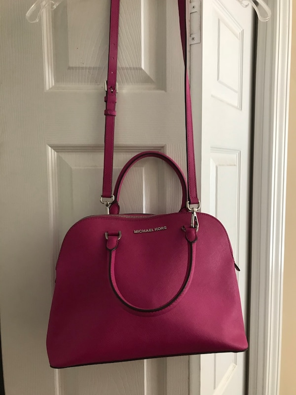 6d07ffde0c3b Used Women s pink Michael kors leather tote bag for sale in ...