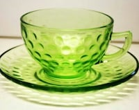 Vaseline glass teacups and saucers ... there are 2 Edmonton, T5E 1X8