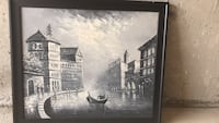 Venice oil painting with frame   Aurora, L4G 0E7