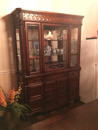 brown wooden framed glass display cabinet Alexandria, 22309