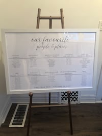 Large Rustic White Wedding Seating Chart / Plan Frame from Michael's