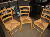 Set of (3) Bamboo Chairs.   Excellent Condition