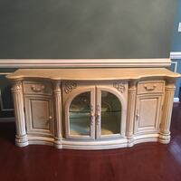 Parchment Finish Buffet length is 78 inches , height is 31 Bowie, 20720