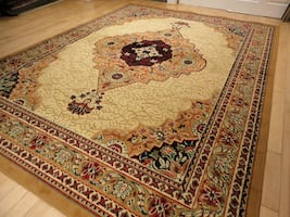 New Beige Area Rug 5x8 Traditional area rugs