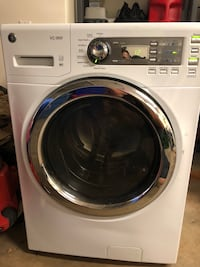 White lg front-load clothes washer 4806 mi