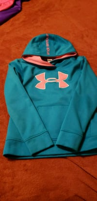 blue and orange Under Armour pullover hoodie Mission, 78572