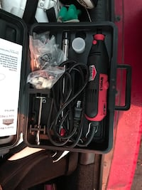 Black and red rotary tool with case Victoria, V8T