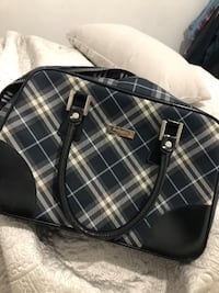 black and white plaid leather tote bag Surrey, V3W 1N8