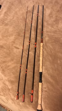 several black and beige fishing rods Langley, V3A 3T3