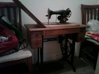brown and black treadle sewing machine Coquitlam, V3K 6W2