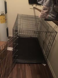 Black metal folding dog crate Tucson, 85730