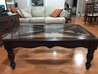 Coffee Table-Cherry Wood with Glass Clifton, 07011