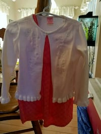 2T sleeveless coral color dress with white sweater Jackson Township, 08527