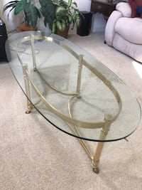 Elegant Modern Glass & Brass Coffee Table- Great Condition  Haymarket, 20169