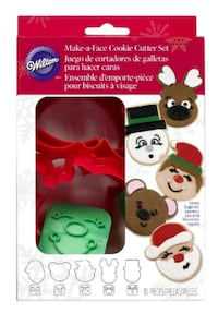 NEW Wilton X-Mas 10 Piece Make A Face Cookie Cutte Montréal, H8P 3A6