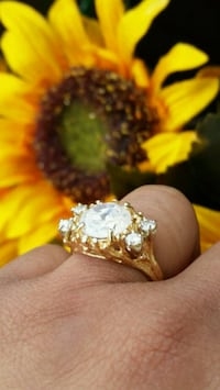 Gorgeous 14K Solid Yellow Gold Cocktail Ring Katy, 77449