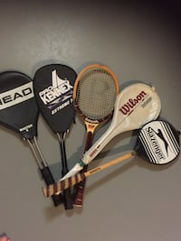 Five assorted-color tennis rackets Montgomery, 45242