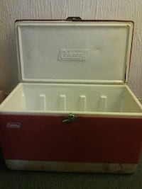 Old retro red cooler Rochester, 14609