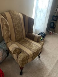 Brown burgundy, cream and olive green and white floral sofa chair Fredericksburg, 22406