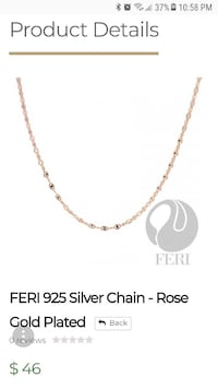 Feri silver chain gold plated