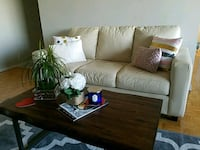 Gently used champagne colour couch.Great condition