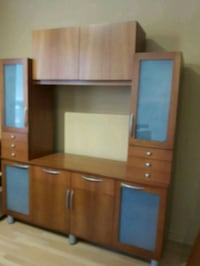 brown wooden TV hutch with cabinet Toronto, M4M 1Y7