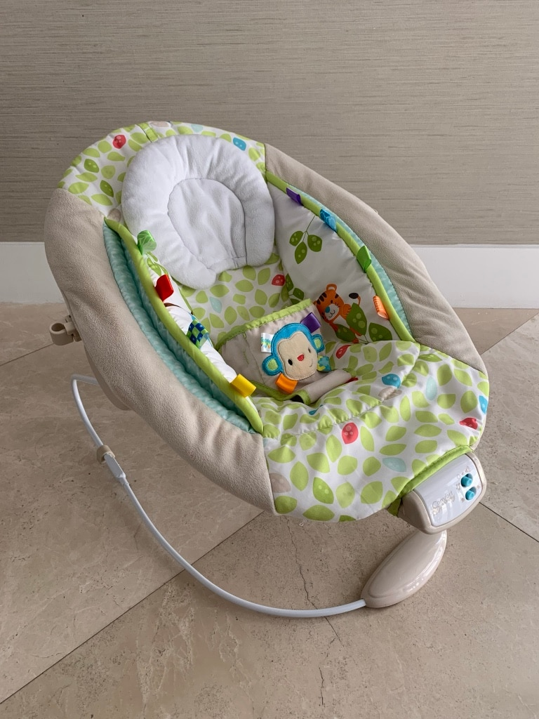 baby's gray and green bouncer for sale  Doral